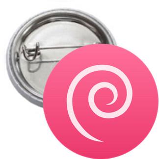 Ansteckbutton - Debian Logo einfach