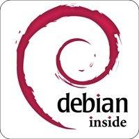 Notebook-Sticker - Debian inside