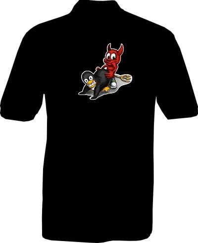Polo-Shirt - I love Linux - Rückseite