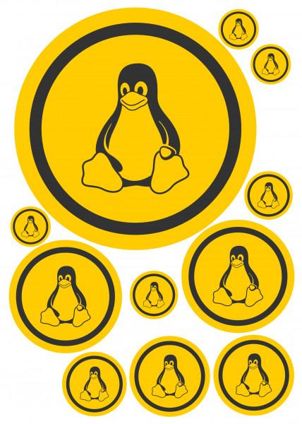Maxi-Sticker - Tux orange A4