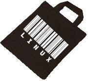 Baumwolltasche - LINUX Strichcode
