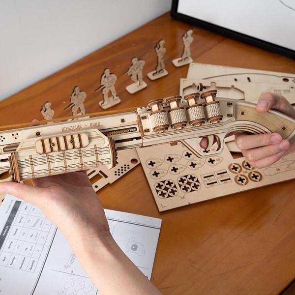Gummiband-Schrotflinte Holzbausatz