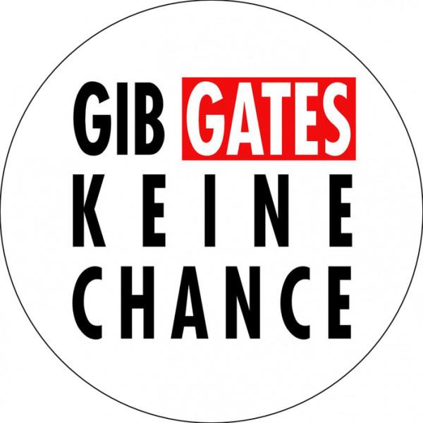 Notebook-Sticker - Gib Gates keine Chance - rund