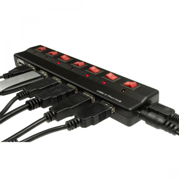 Ultimate Hub mit 7-fach USB + Netzteil