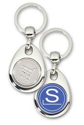Schlüsselanhänger - Metall - Slackware - Einkaufswagen-Chip