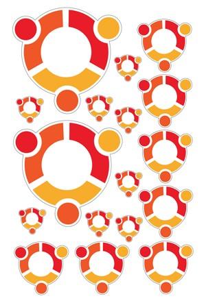 Maxi-Sticker - ubuntu A4