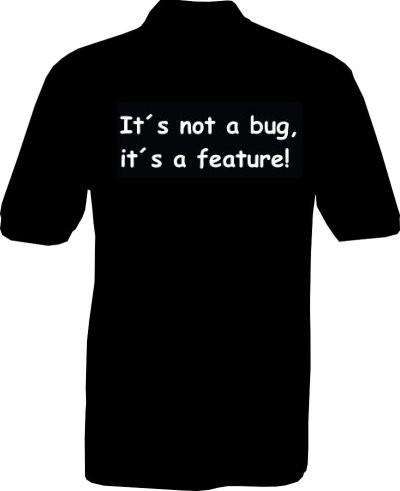 Polo-Shirt - its not a bug - Rückseite